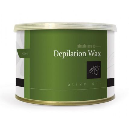 Теплый воск в банке для депиляции Olive Oil, 400 мл